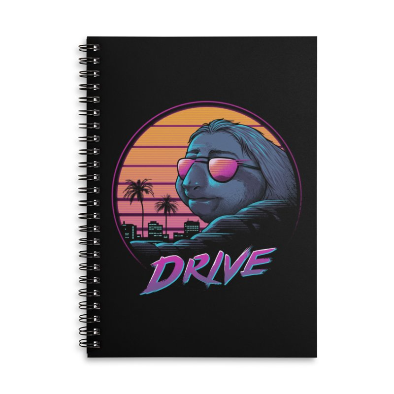 Slow Drive Accessories Lined Spiral Notebook by Vincent Trinidad Art