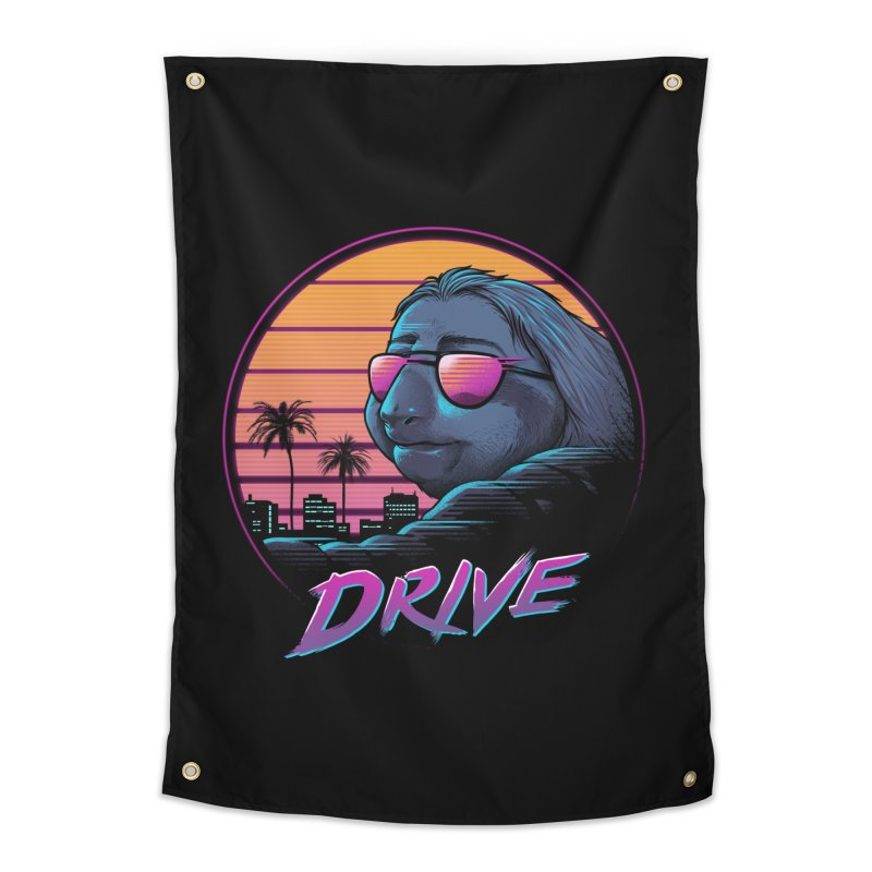 Slow Drive Home Tapestry by Vincent Trinidad Art