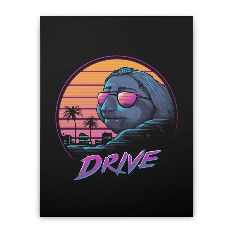 Slow Drive Home Stretched Canvas by Vincent Trinidad Art