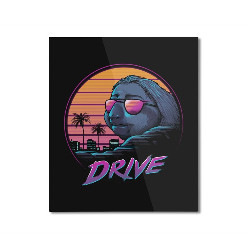 Slow Drive Home Mounted Aluminum Print by Vincent Trinidad Art