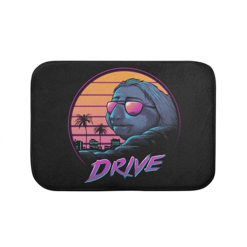 Slow Drive Home Bath Mat by Vincent Trinidad Art