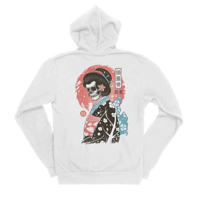 Yokai Geisha Men's Sponge Fleece Zip-Up Hoody by Vincent Trinidad Art