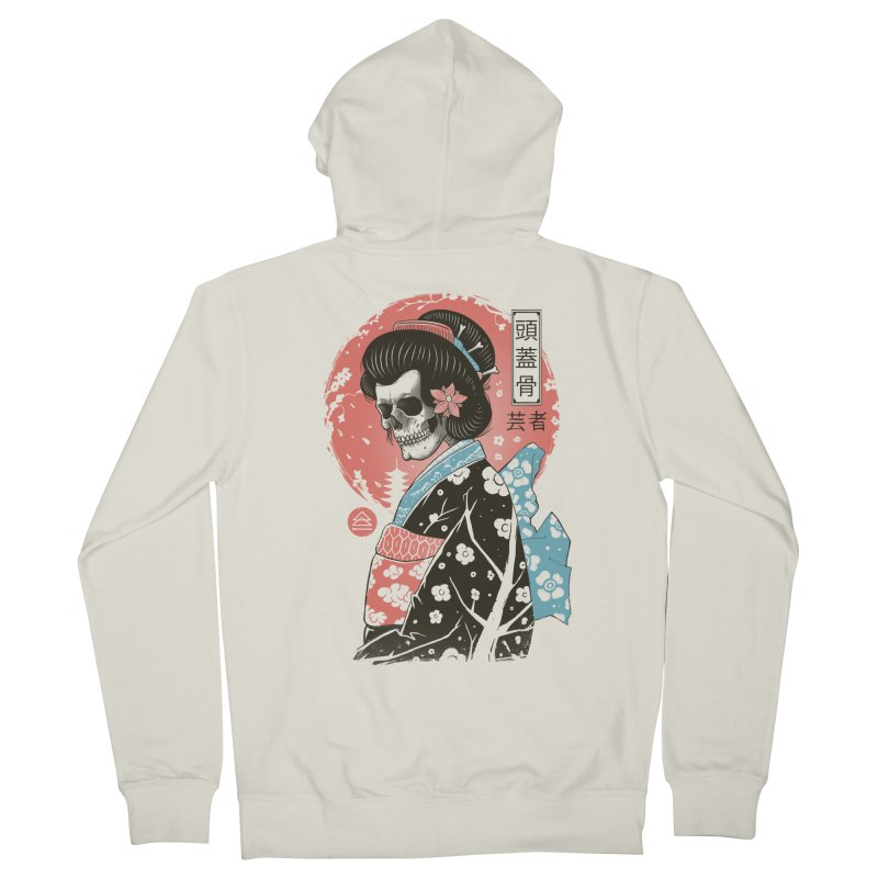 Yokai Geisha Men's French Terry Zip-Up Hoody by Vincent Trinidad Art