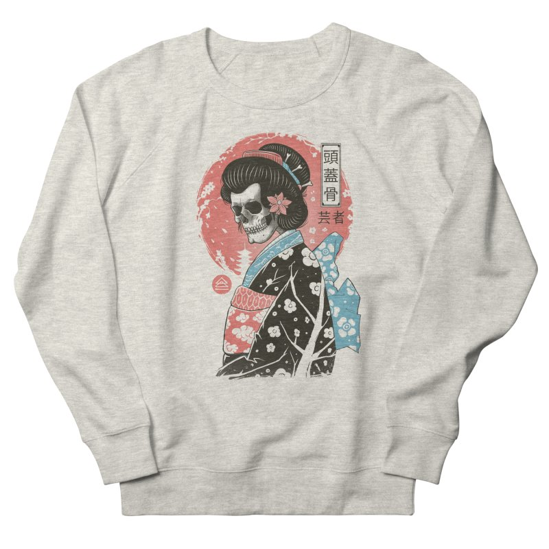 Yokai Geisha Women's French Terry Sweatshirt by Vincent Trinidad Art