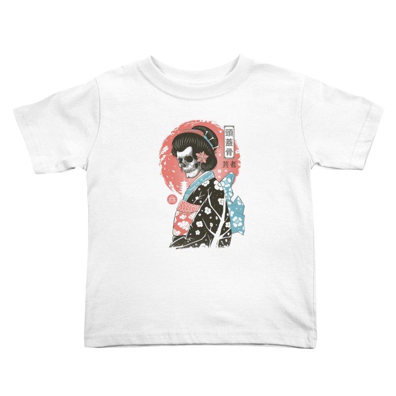 Yokai Geisha Kids Toddler T-Shirt by Vincent Trinidad Art