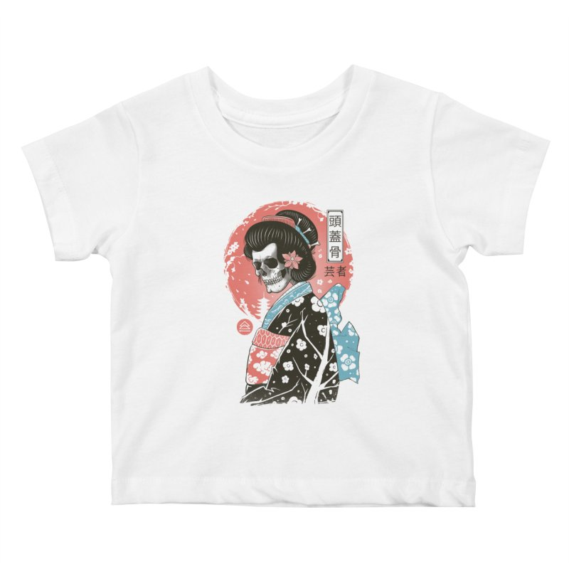 Yokai Geisha Kids Baby T-Shirt by Vincent Trinidad Art