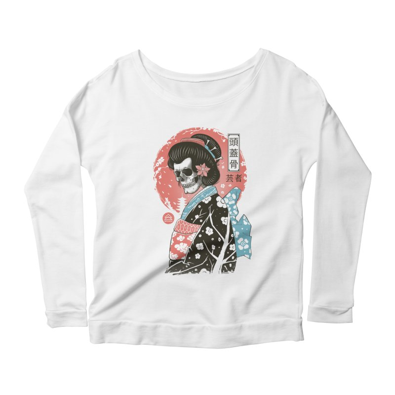 Yokai Geisha Women's Scoop Neck Longsleeve T-Shirt by Vincent Trinidad Art