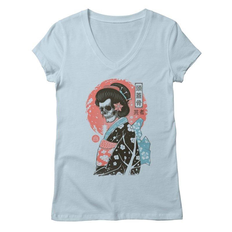 Yokai Geisha Women's Regular V-Neck by Vincent Trinidad Art