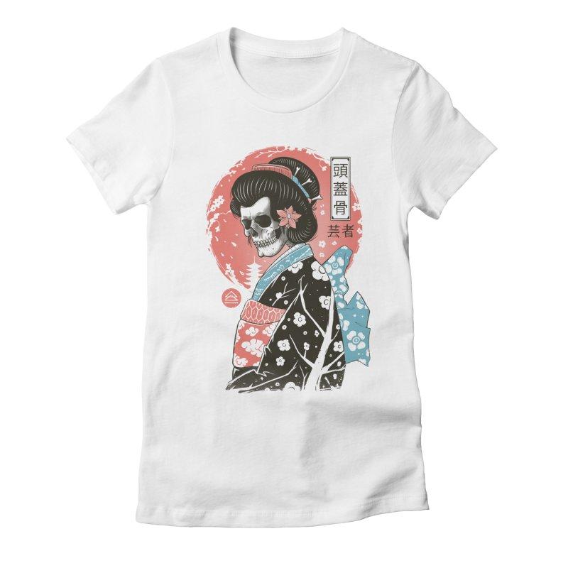 Yokai Geisha Women's Fitted T-Shirt by Vincent Trinidad Art