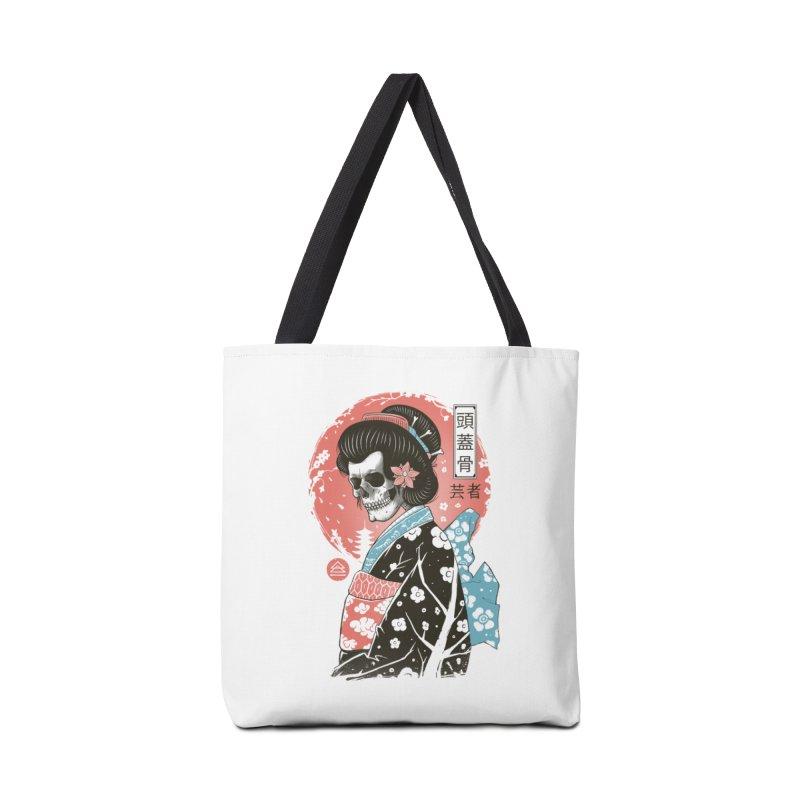 Yokai Geisha Accessories Tote Bag Bag by Vincent Trinidad Art