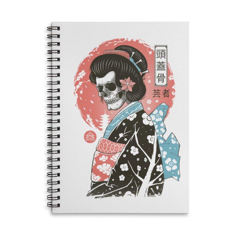 Yokai Geisha Accessories Lined Spiral Notebook by Vincent Trinidad Art
