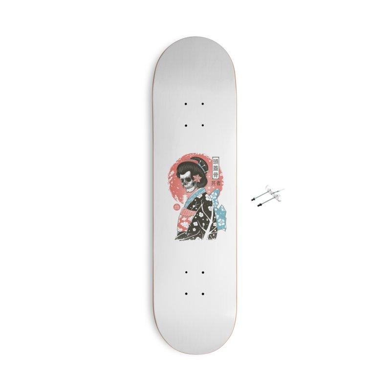 Yokai Geisha Accessories With Hanging Hardware Skateboard by Vincent Trinidad Art