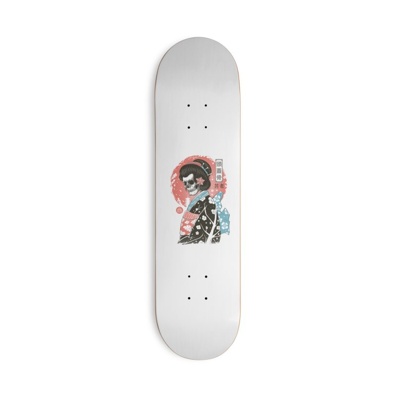 Yokai Geisha Accessories Deck Only Skateboard by Vincent Trinidad Art