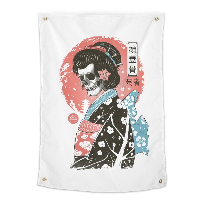 Yokai Geisha Home Tapestry by Vincent Trinidad Art