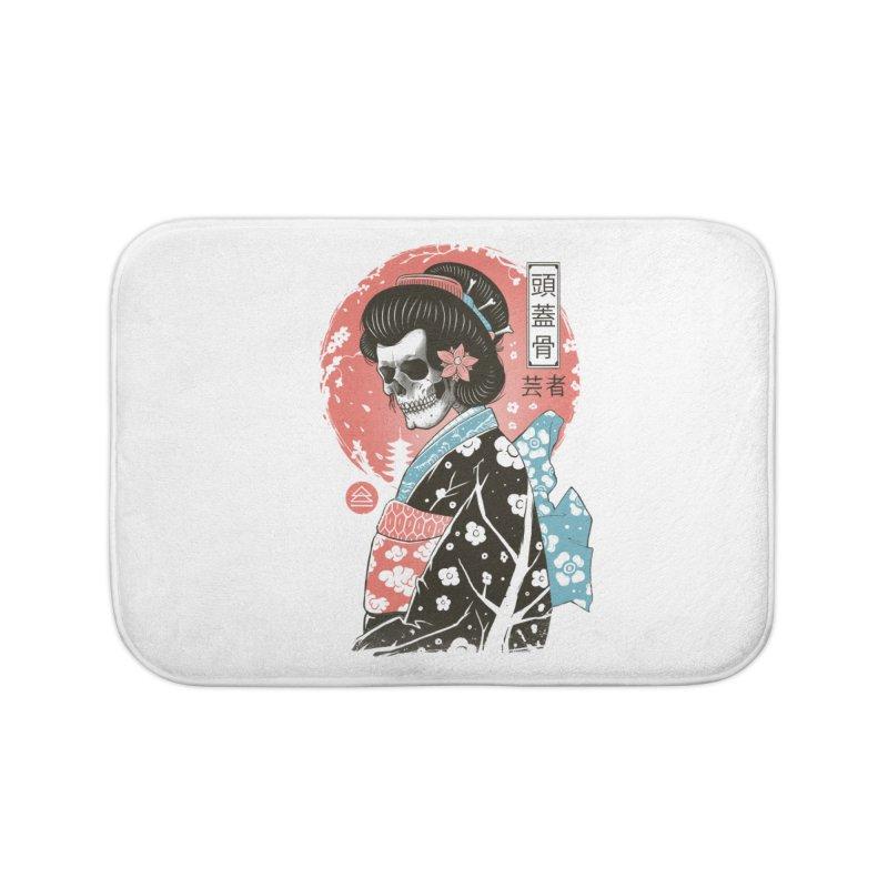 Yokai Geisha Home Bath Mat by Vincent Trinidad Art