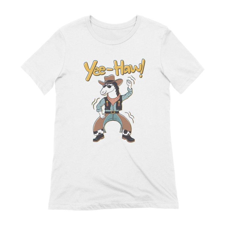 Horsing Around Women's Extra Soft T-Shirt by Vincent Trinidad Art