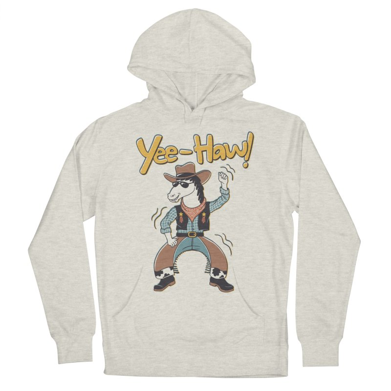 Horsing Around Men's French Terry Pullover Hoody by Vincent Trinidad Art