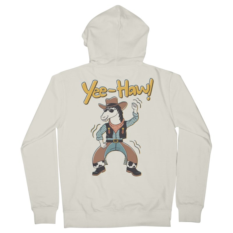 Horsing Around Men's French Terry Zip-Up Hoody by Vincent Trinidad Art
