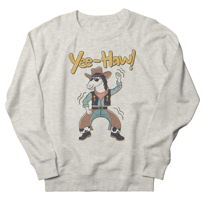 Horsing Around Men's French Terry Sweatshirt by Vincent Trinidad Art