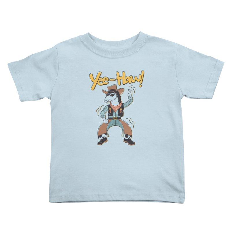 Horsing Around Kids Toddler T-Shirt by Vincent Trinidad Art