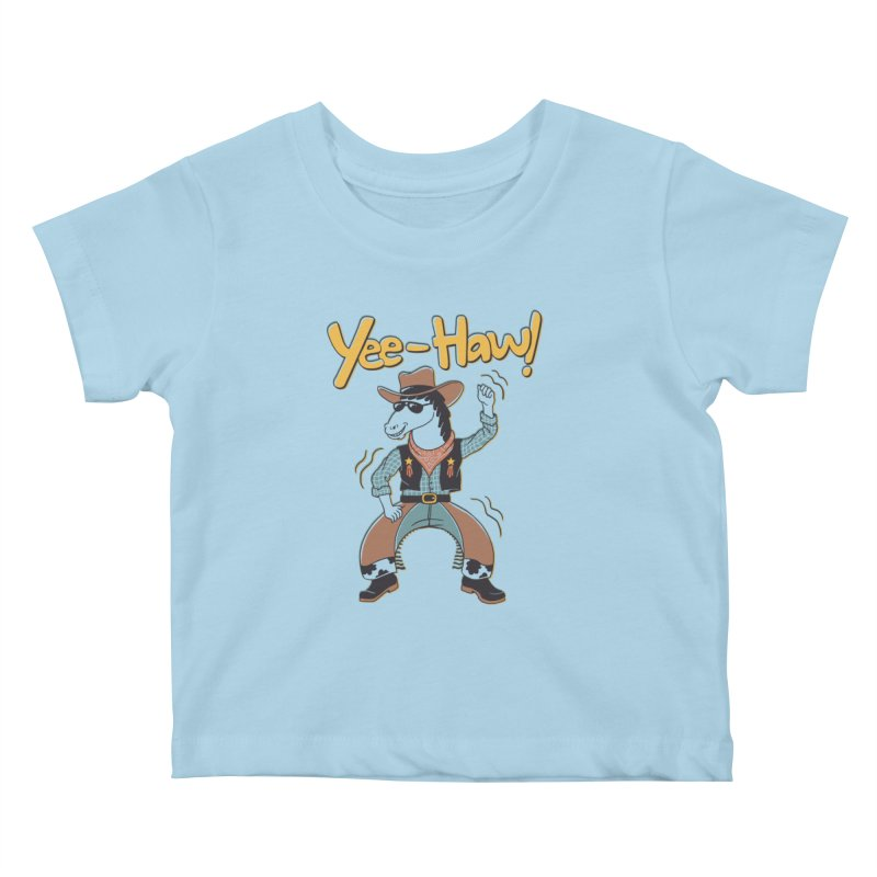 Horsing Around Kids Baby T-Shirt by Vincent Trinidad Art