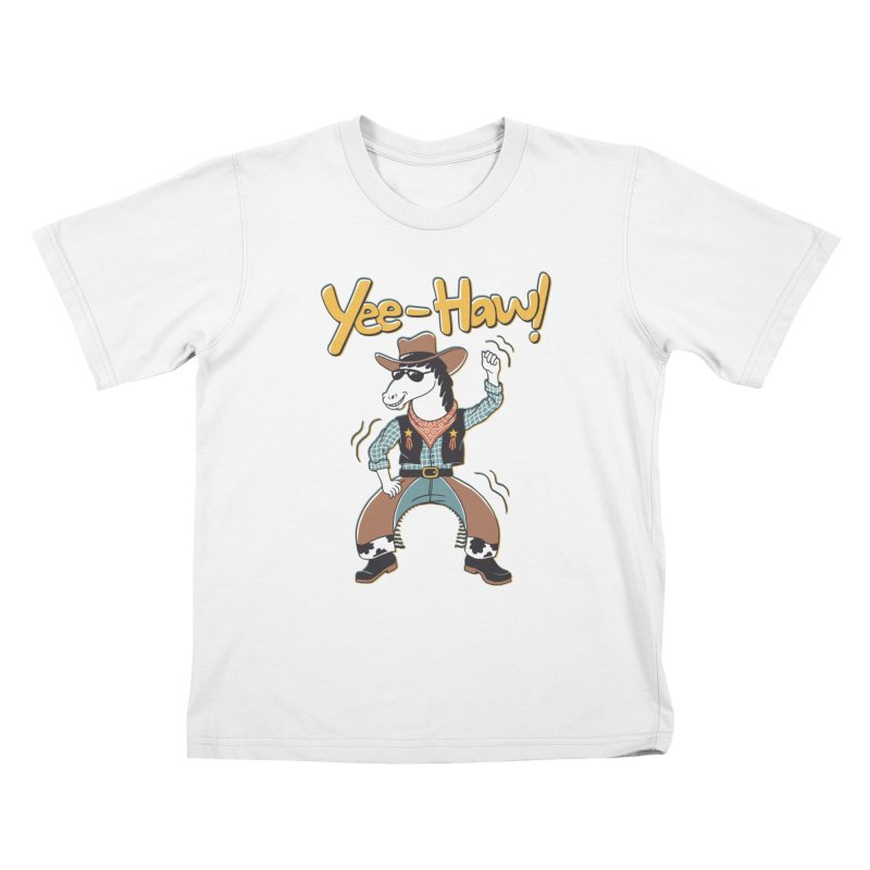 Horsing Around Kids T-Shirt by Vincent Trinidad Art