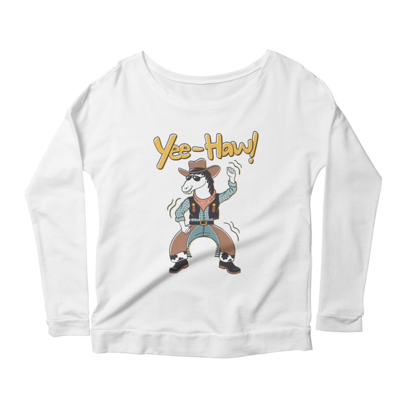 Horsing Around Women's Scoop Neck Longsleeve T-Shirt by Vincent Trinidad Art