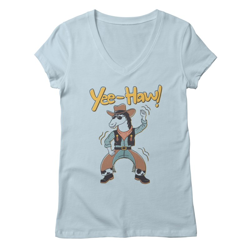 Horsing Around Women's Regular V-Neck by Vincent Trinidad Art