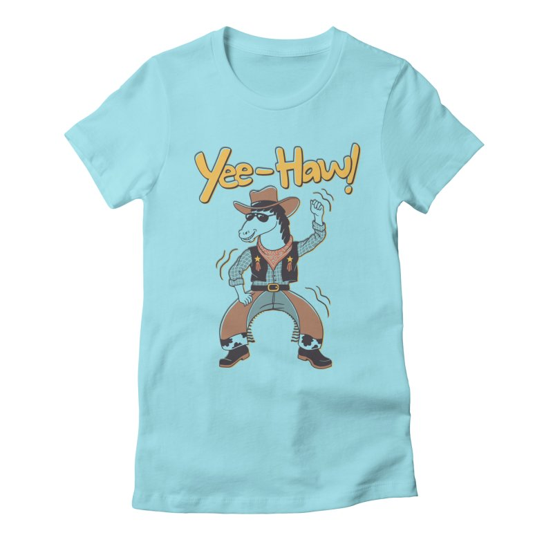 Horsing Around Women's Fitted T-Shirt by Vincent Trinidad Art