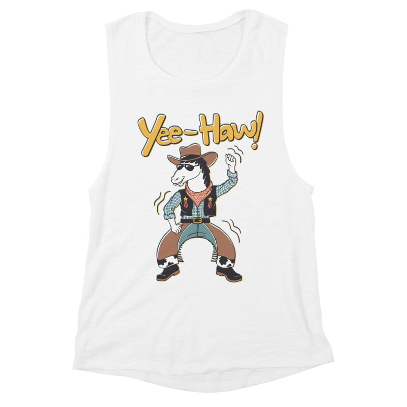 Horsing Around Women's Muscle Tank by Vincent Trinidad Art