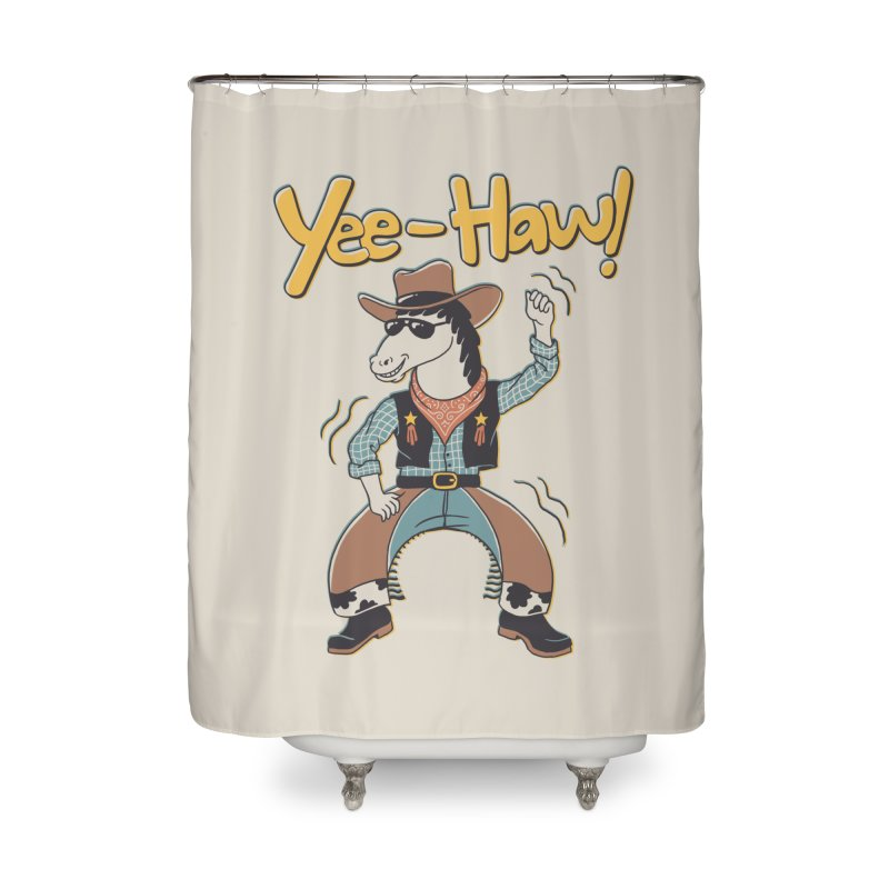 Horsing Around Home Shower Curtain by Vincent Trinidad Art