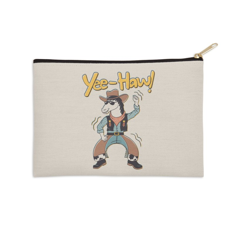 Horsing Around Accessories Zip Pouch by Vincent Trinidad Art