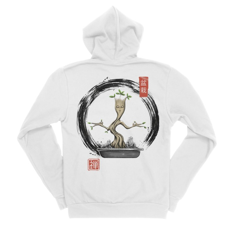 Bonsai Meditations Men's Sponge Fleece Zip-Up Hoody by Vincent Trinidad Art