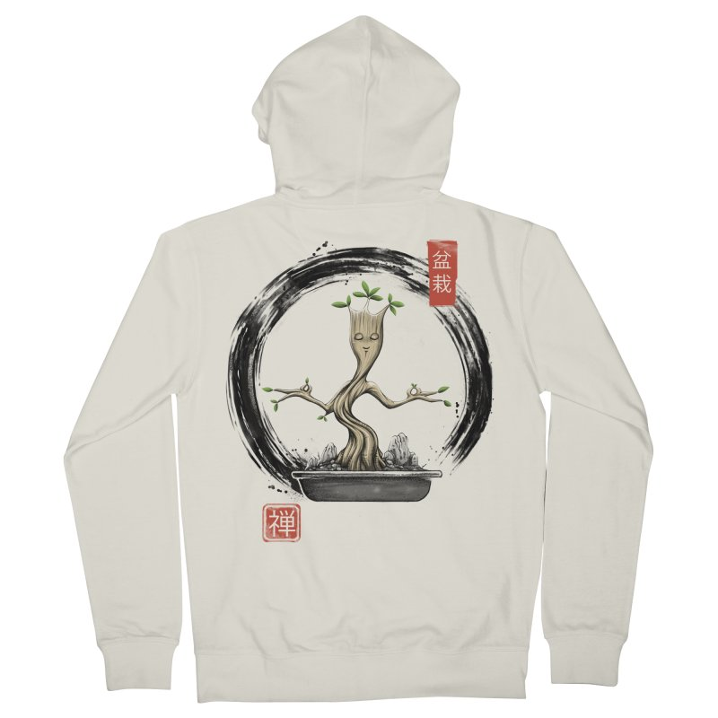 Bonsai Meditations Men's French Terry Zip-Up Hoody by Vincent Trinidad Art