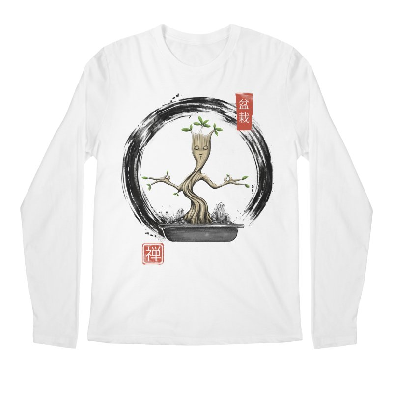 Bonsai Meditations Men's Regular Longsleeve T-Shirt by Vincent Trinidad Art