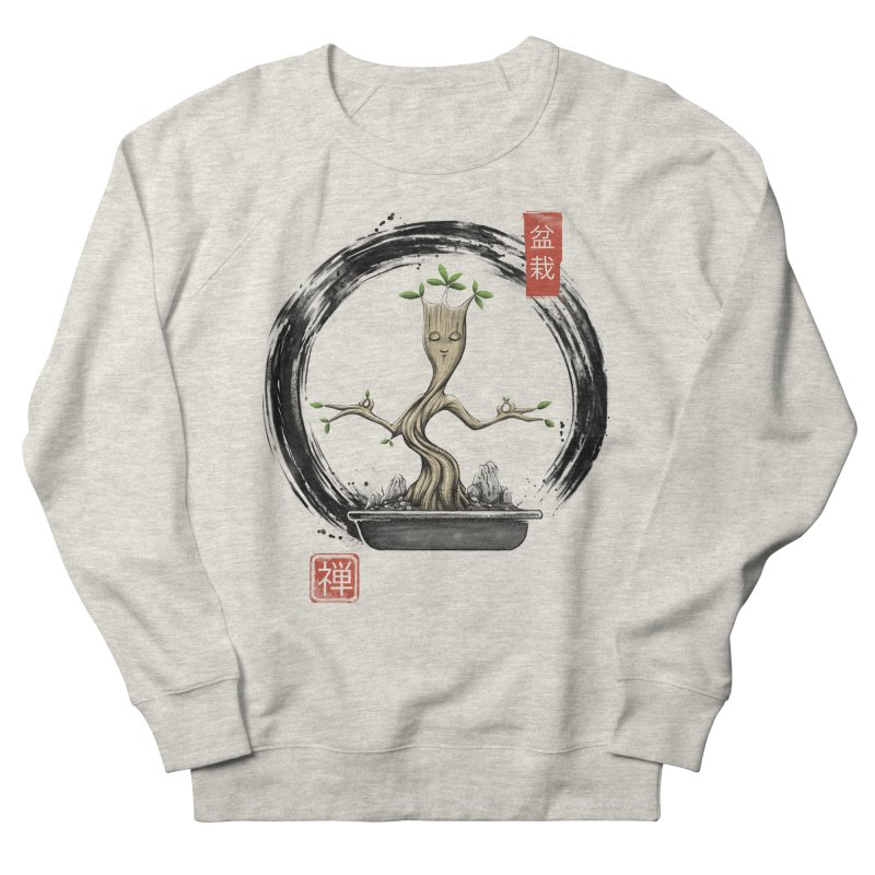 Bonsai Meditations Men's French Terry Sweatshirt by Vincent Trinidad Art