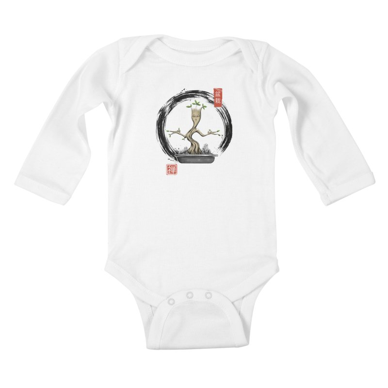 Bonsai Meditations Kids Baby Longsleeve Bodysuit by Vincent Trinidad Art