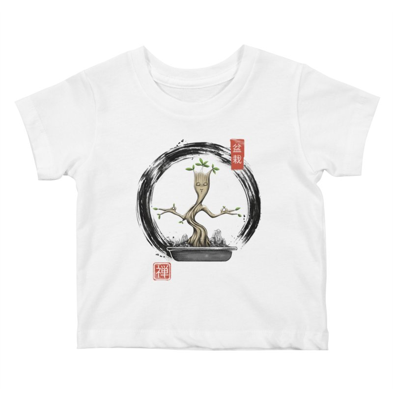 Bonsai Meditations Kids Baby T-Shirt by Vincent Trinidad Art