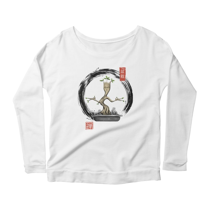 Bonsai Meditations Women's Scoop Neck Longsleeve T-Shirt by Vincent Trinidad Art