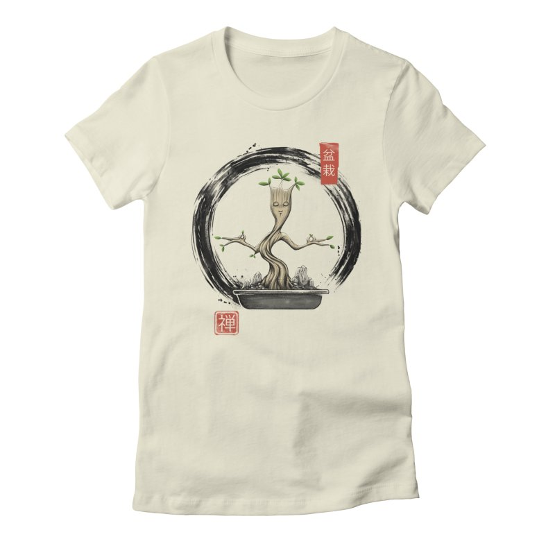 Bonsai Meditations Women's Fitted T-Shirt by Vincent Trinidad Art