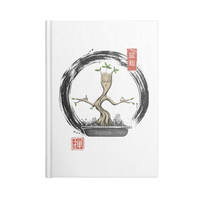 Bonsai Meditations Accessories Lined Journal Notebook by Vincent Trinidad Art