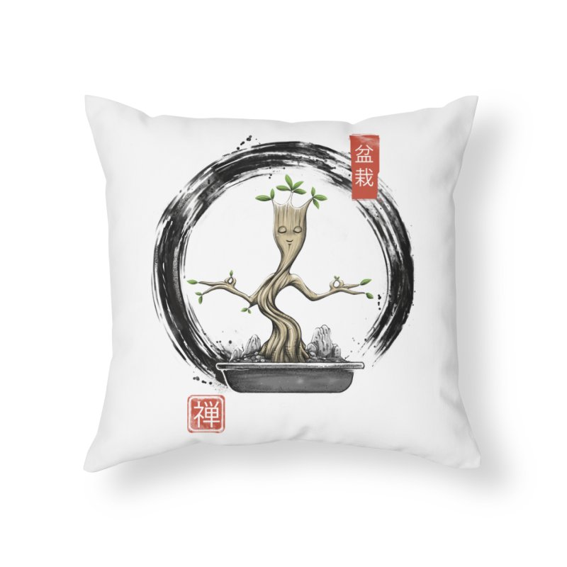 Bonsai Meditations Home Throw Pillow by Vincent Trinidad Art