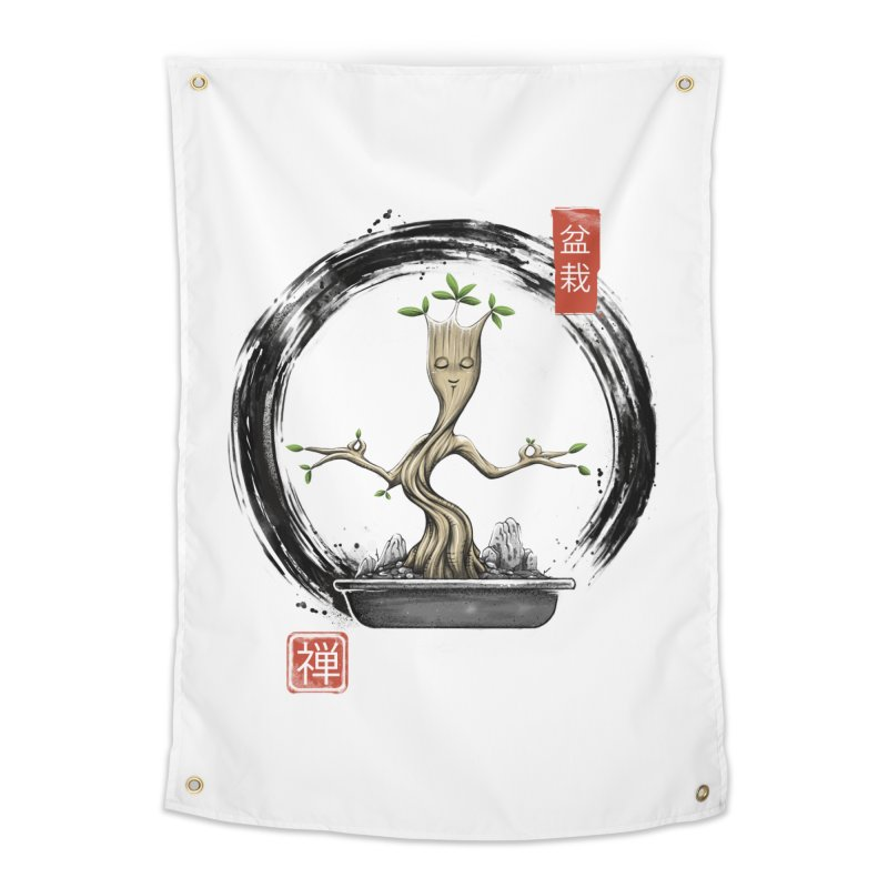 Bonsai Meditations Home Tapestry by Vincent Trinidad Art