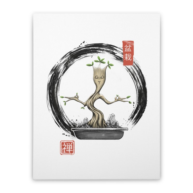 Bonsai Meditations Home Stretched Canvas by Vincent Trinidad Art