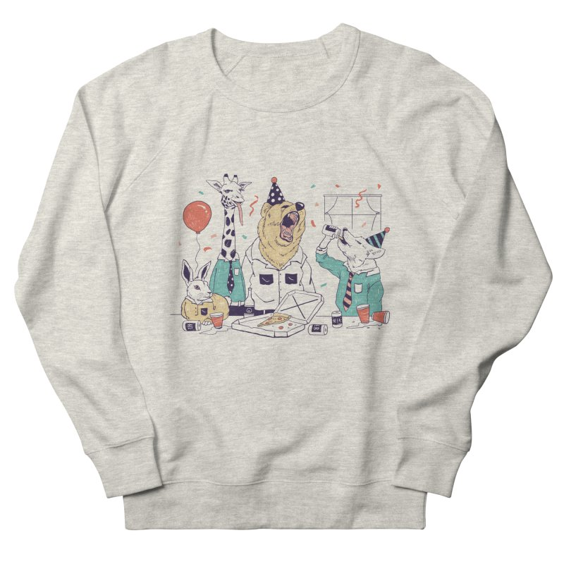 Party Animals Women's French Terry Sweatshirt by Vincent Trinidad Art
