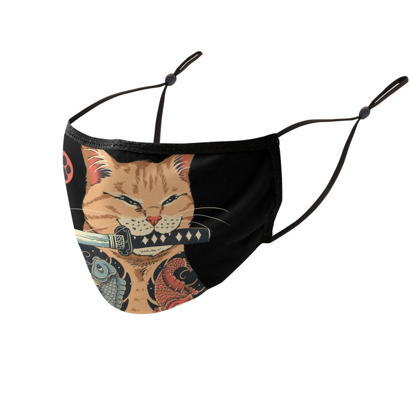 Catana Accessories Face Mask by Vincent Trinidad Art