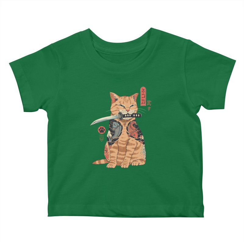 Catana Kids Baby T-Shirt by Vincent Trinidad Art