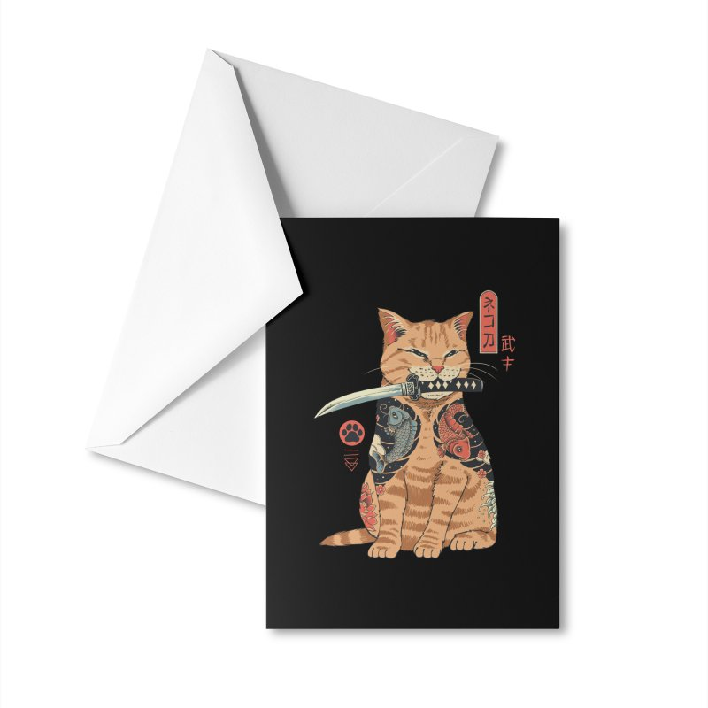 Catana Accessories Greeting Card by Vincent Trinidad Art