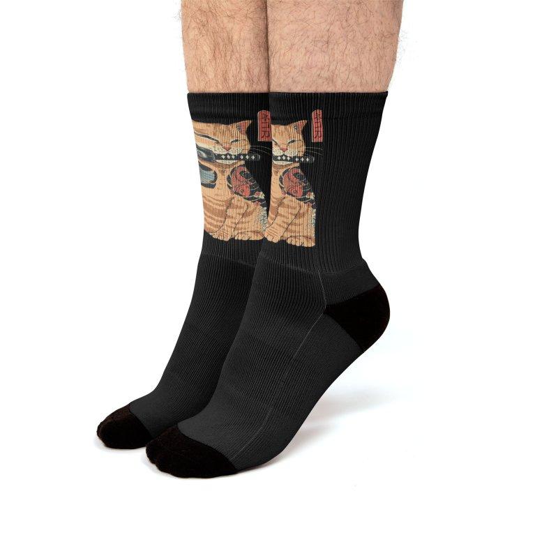 Catana Men's Socks by Vincent Trinidad Art