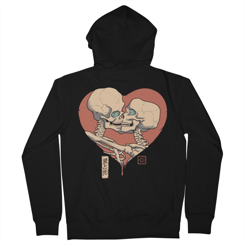 Till Death Do Us Part Men's French Terry Zip-Up Hoody by Vincent Trinidad Art